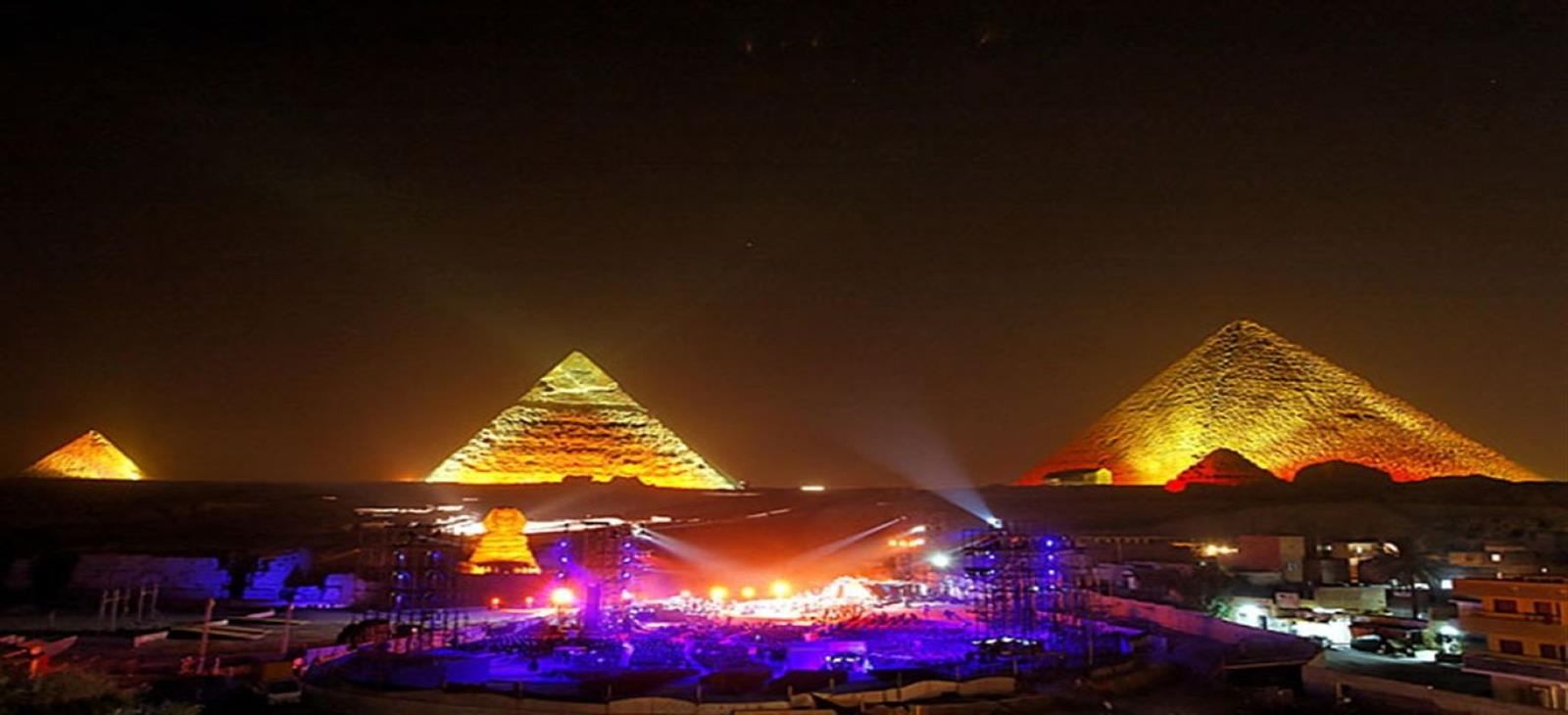 sound and light pyramids
